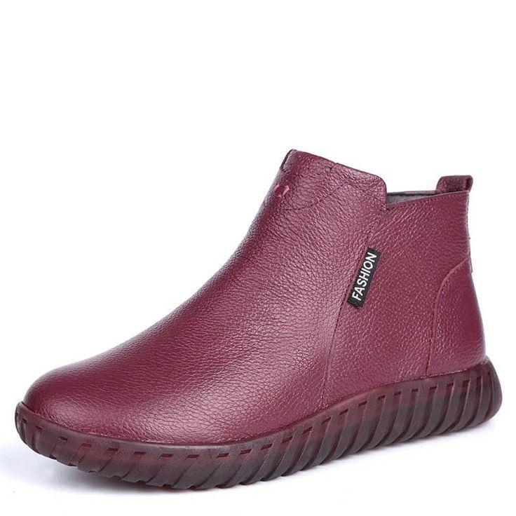GKTINOO Vintage À La Main En Cuir Véritable Femmes Cheville Bottes Casual Bottes De Neige D&#... #neiged#39;hiver GKTINOO Vintage À La Main En Cuir Véritable Femmes Cheville Bottes Casual Bottes De Neige D'hiver Dames Chaussures plates Zip En Caoutchouc Botines Mujer,  #Botines #Bottes #caoutchouc #Casual #chaussures #cheville #Cuir #d39hiver #DAMES #femmes #GKTINOO #ladiesFlatShoes #main #mujer #neige #plates #Véritable #vintage #zip #neiged#39;hiver