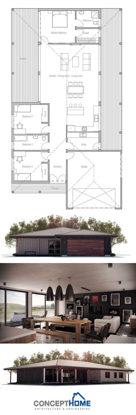 Floor Plan | liberia | Pinterest | Modern house plans, Modern family ...