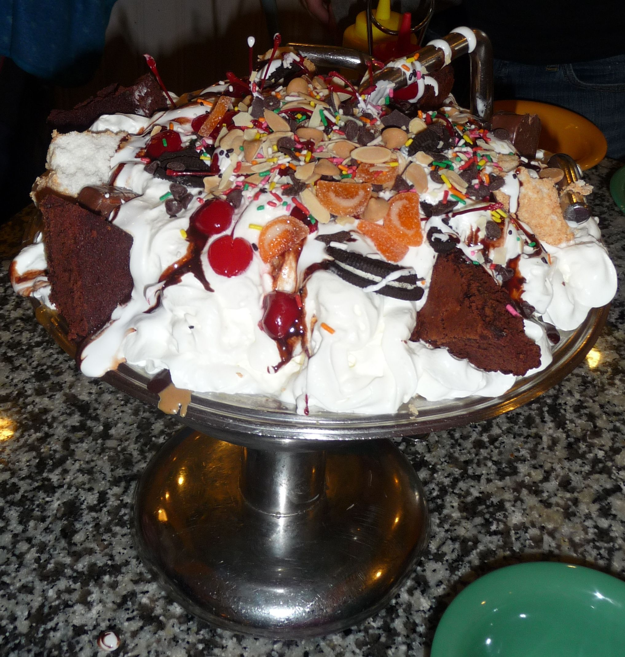 eat a kitchen sink ice cream sundae - beaches and cream - walt