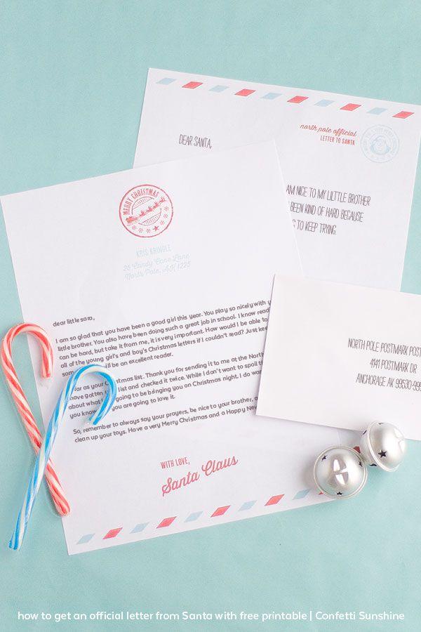 サンタサンタからの公式の手紙プラス無料印刷可能な文字を取得する方法