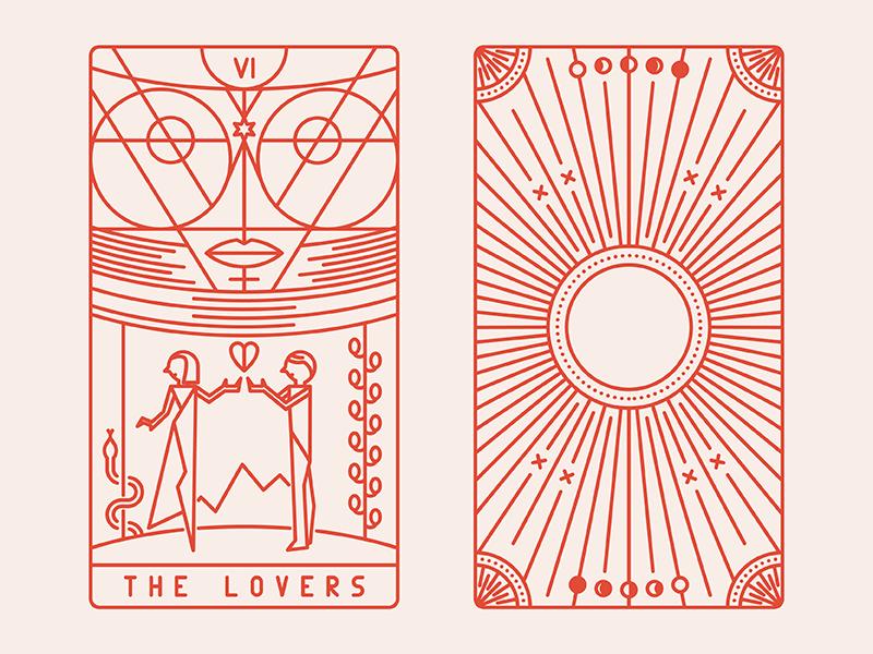 Tarot Deco The Lovers Tarot Cards Art The Moon Tarot Card The Lovers Tarot Card