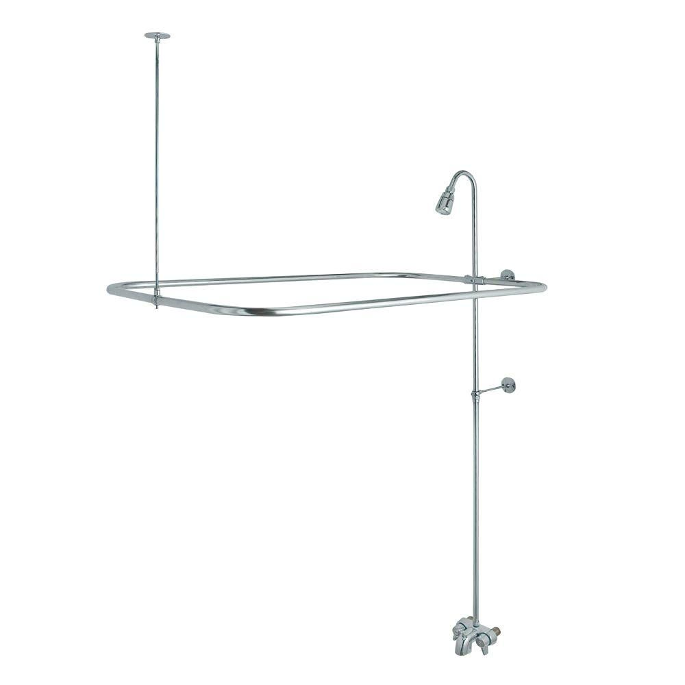 Danco Add A Shower Kit For Claw Foot Tub In Chrome 52406