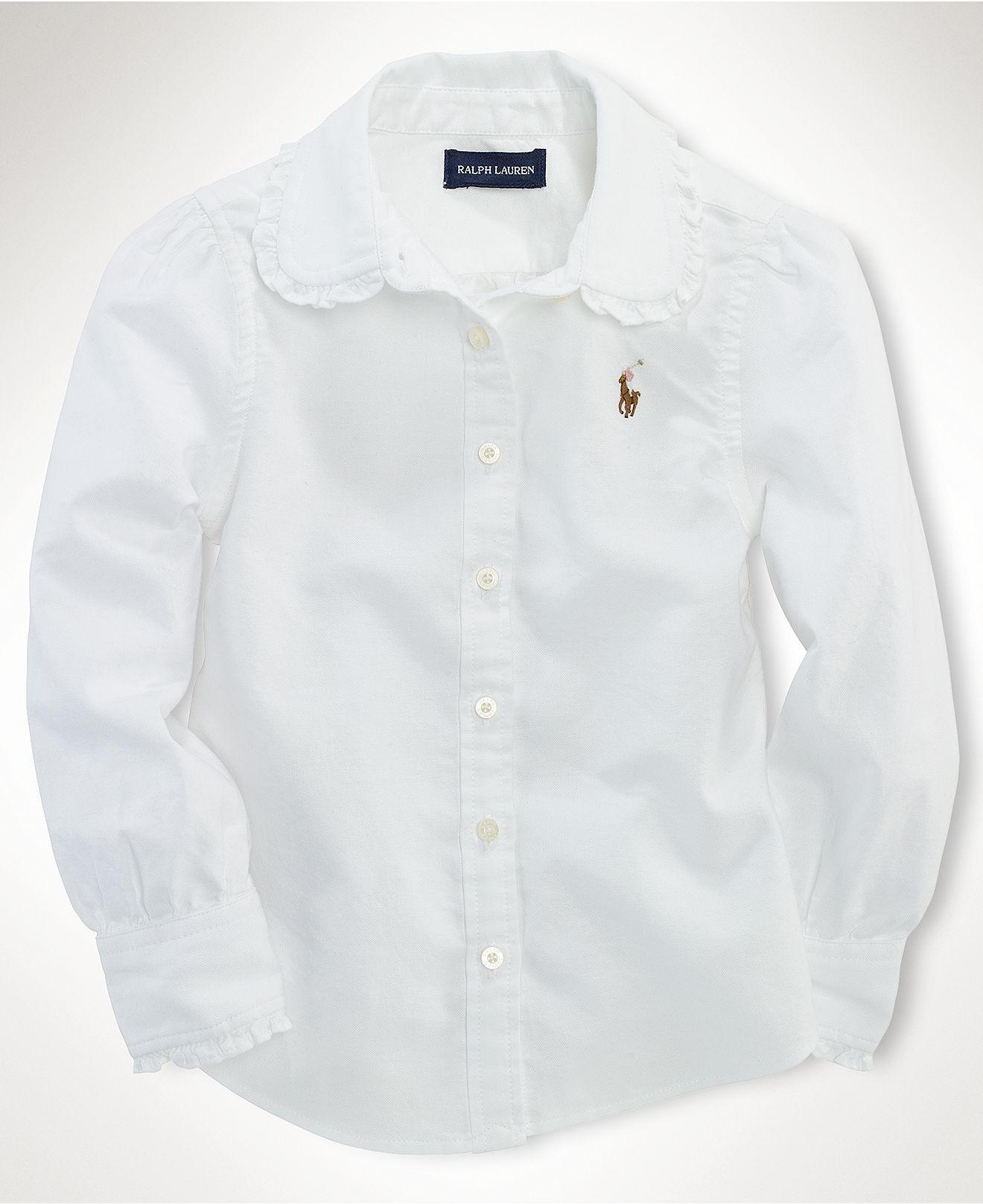 White apron macy's - Classic White Shirt With Just A Hint Of Ruffle Ralph Lauren Kids Shirt Little