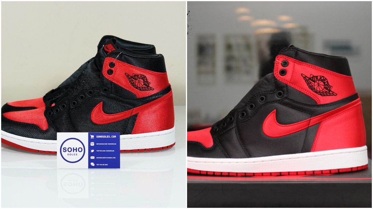 b392c2ef438a8a Can You Find More Flaws Between The Real And Fake Air Jordan 1 Satin ...