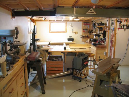 My Basement Workshop 2009 Woodworking Pinterest