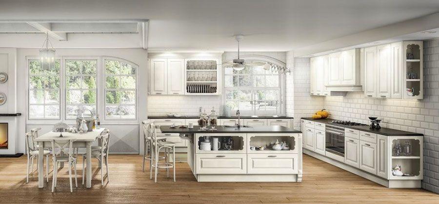 Cucina classica bianca 14 | Cucine | Pinterest | 14 and Cucina