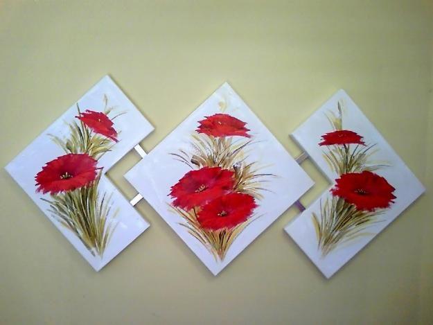 flores pintadas a mão - Pesquisa Google
