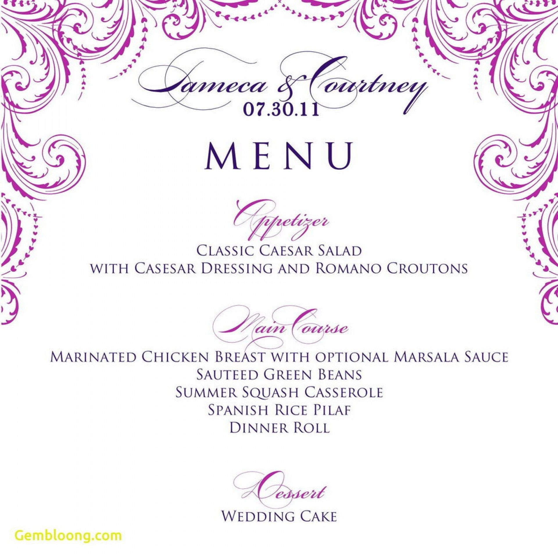 014 Template Ideas Free Printable Dinner Party Menu In Blank