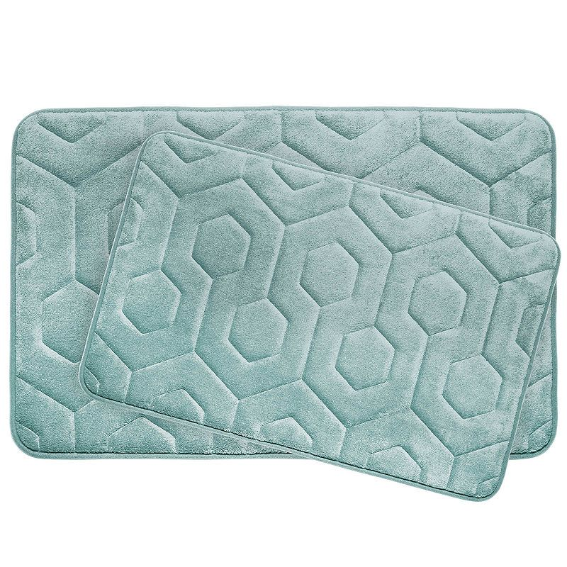 Bounce Comfort Hexagon 2 Pc Memory Foam Bath Mat Set Products