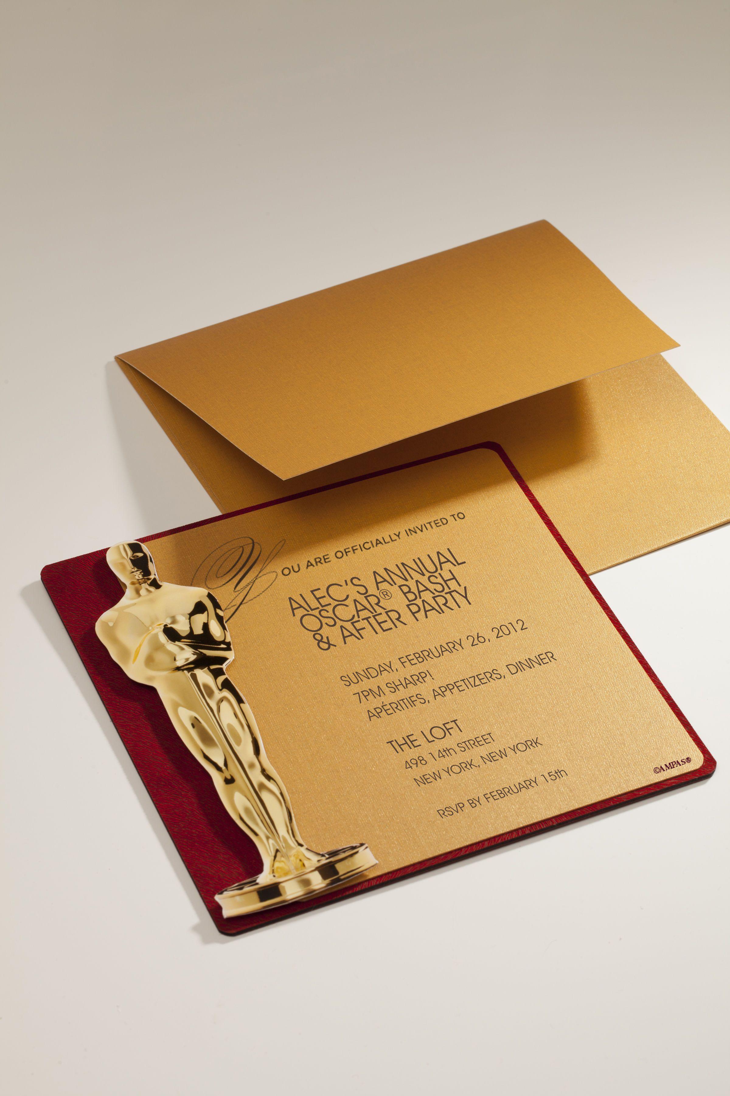 envelopments invitations for academy awards oscars envelopes