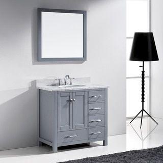 Photo Gallery For Photographers Virtu USA Caroline Avenue inch Single Bathroom Vanity Cabinet Set in Grey by VIRTU USA