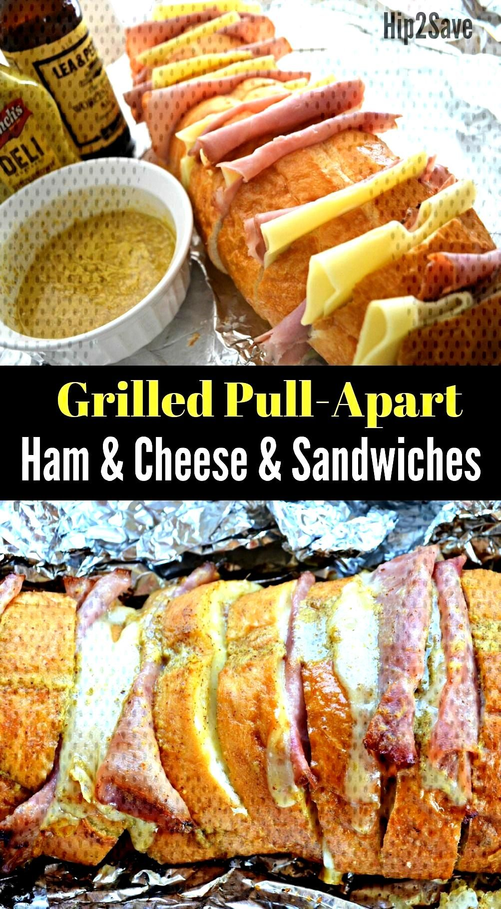 Grilled Ham amp Cheese Pull-Apart Sandwiches , Grilled Ham amp Cheese Pull-Apart Sandwiches ,
