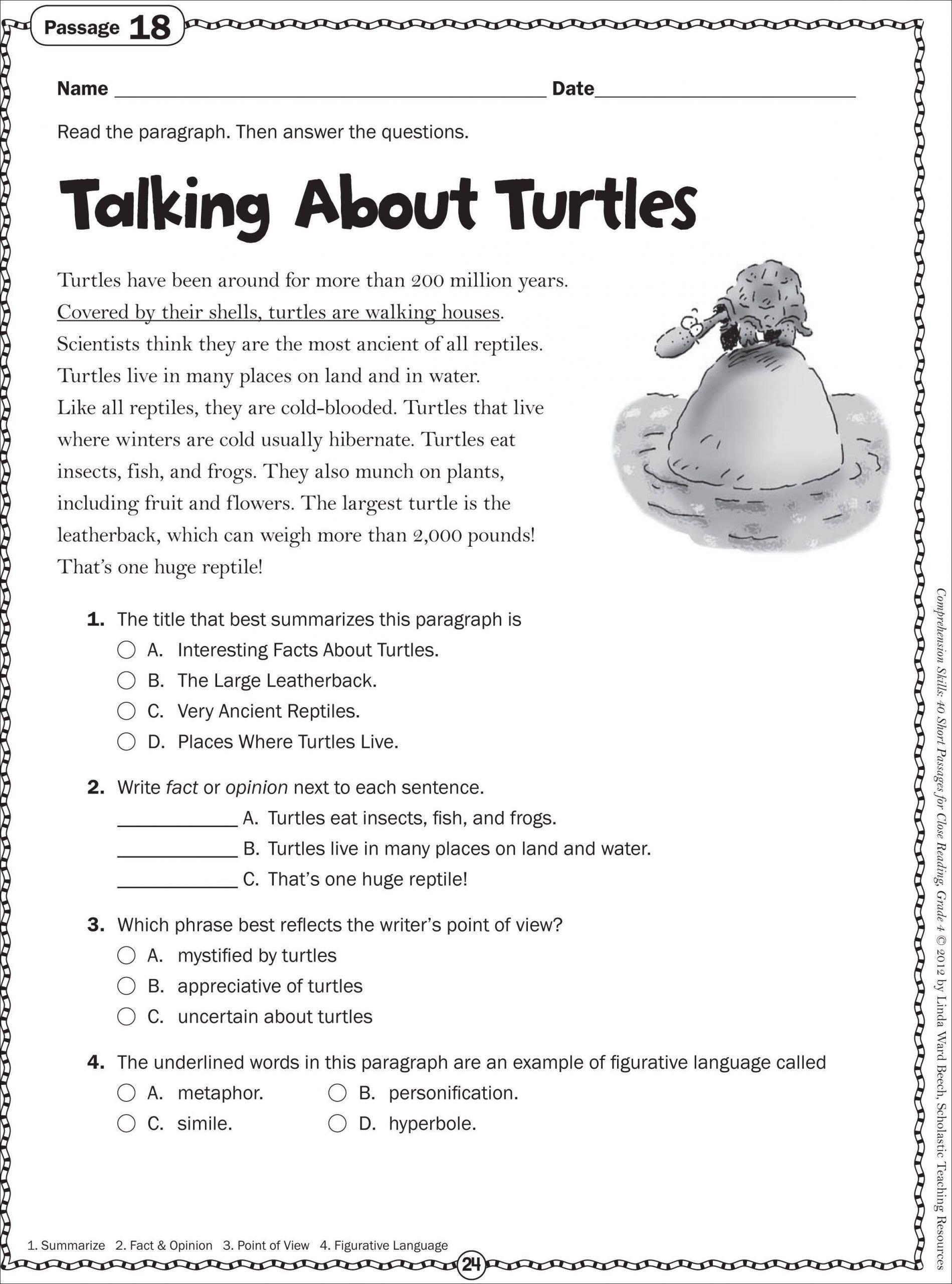 Seventh Grade Reading Comprehension Worksheets Recent 7th In 2020 Free Reading Comprehension Worksheets Reading Comprehension Worksheets Third Grade Reading Worksheets