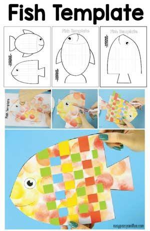 Fish Paper Weaving Craft | wilai | Paper weaving, Crafts ...