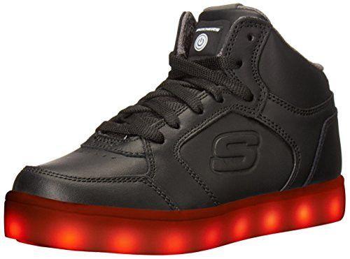 Skechers Kids Boys Energy Lights Sneaker, Black, 1 M US Little Kid