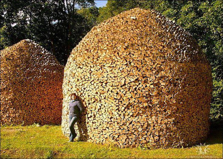 Best Stacking Firewood Ideas On Pinterest Scandinavian Sheds - Creative firewood storage ideas turning wood beautiful yard decorations