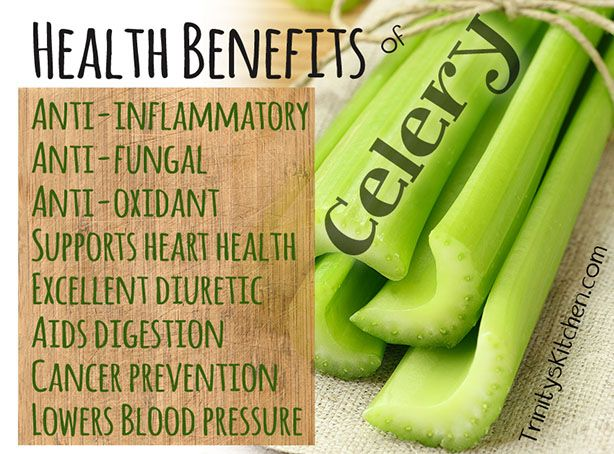 The myriad of different health benefits of celery... from Trinity's Kitchen