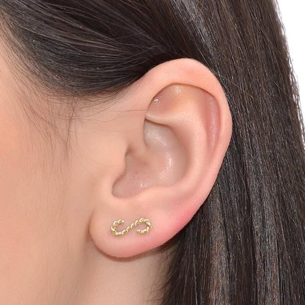 Curved Up The Ear Sweep Gold Climber Pin Earring Cuff Vine Bar Curvedup Jewelry Iroocca