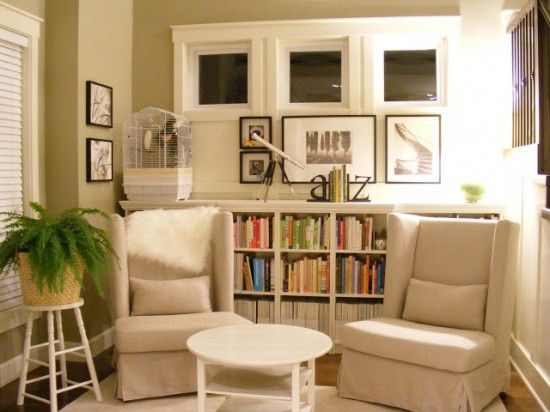 12 Easy Diy Home Libraries Small Sitting Rooms Living Room Hacks Home