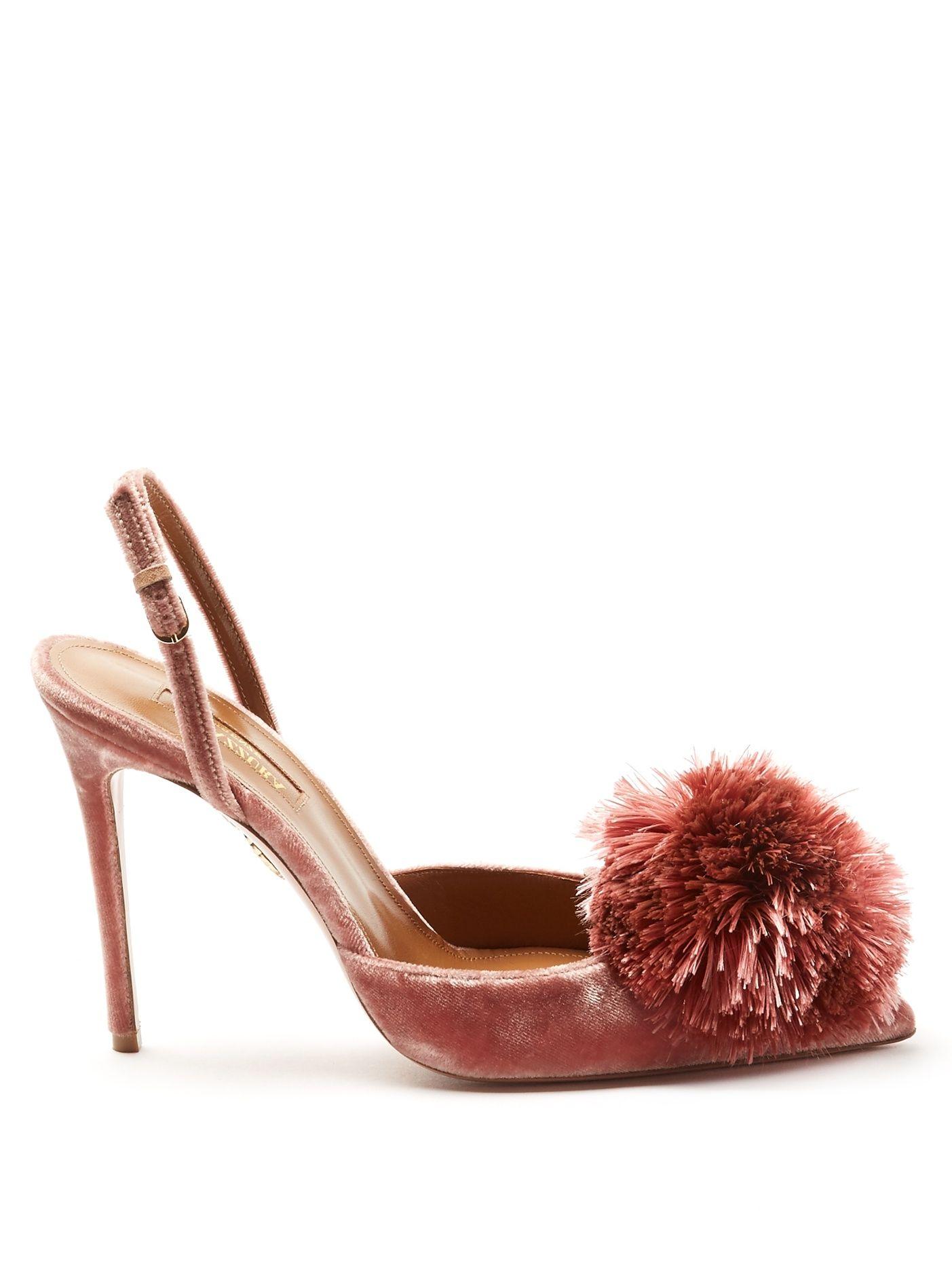 immagini ufficiali prima qualità scarpe originali Click here to buy Aquazzura Powder Puff velvet pumps at ...