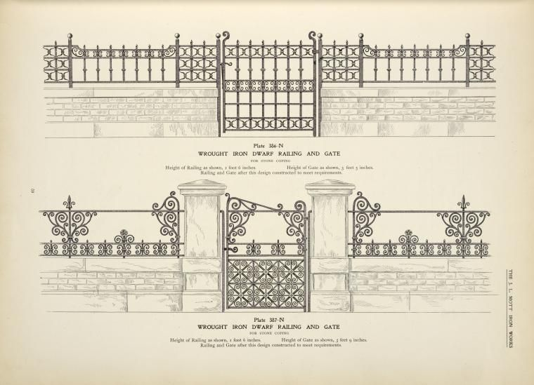 Wrough Iron Dwarf Railing And Gate With Images Iron Gate