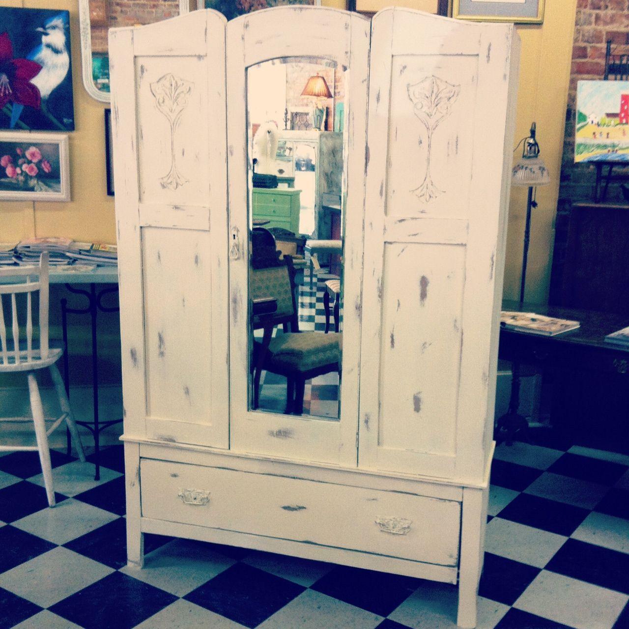 Antique Oak Armoire resigned in Chalk Paint® decorative paint by ...
