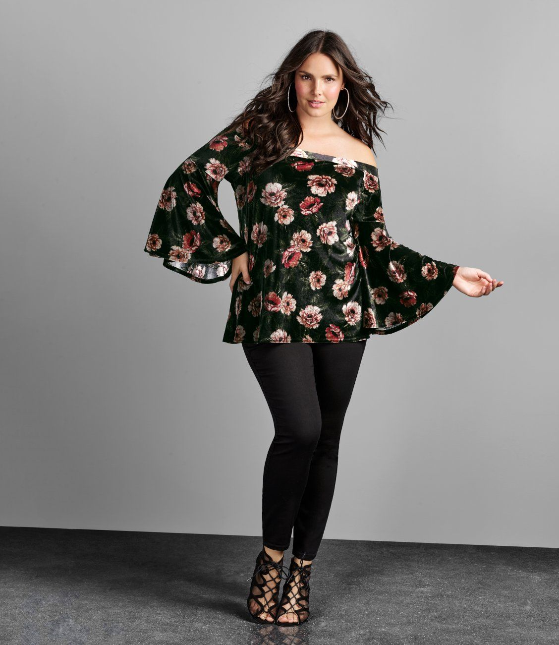 734fbf8e5d386 Velvet off-the shoulder top is a mist have! Shop everything new at ...