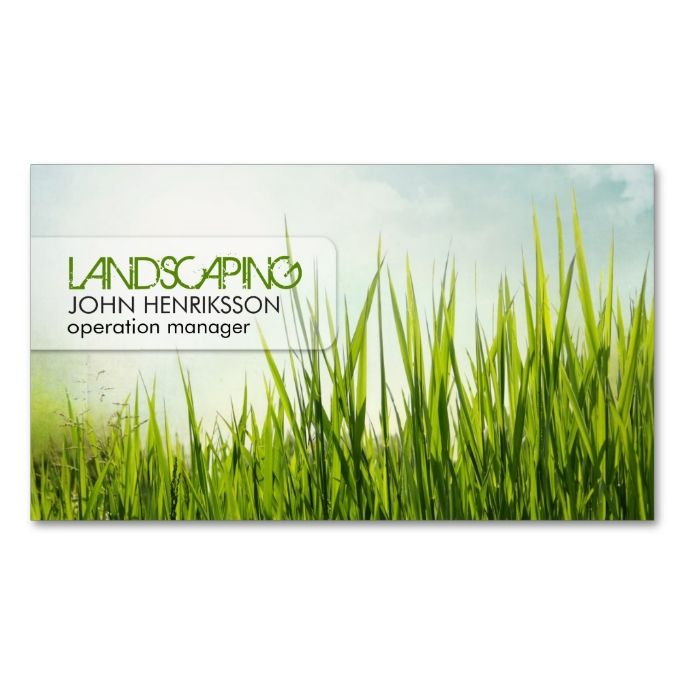 Landscaping Lawn Care Gardener Business Card is part of lawn Care Mowing - Landscaping Lawn Care Gardener Business Card Template  Vintage style  Perfect for lawn care, landscaping, lawn services or grounds maintenance