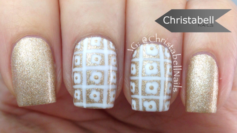 Floral Blocks so Easy Nail Art Tutorial  freehand nails
