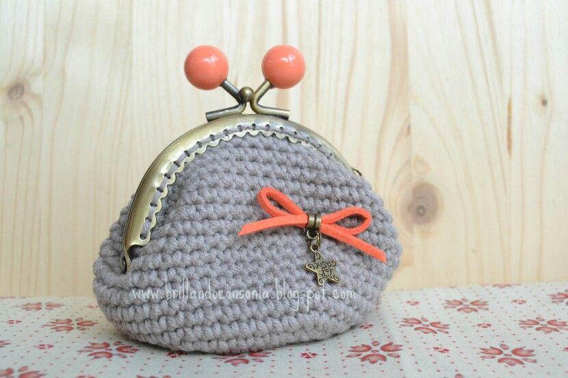 Monedero crochet con boquilla de 8,5 cm