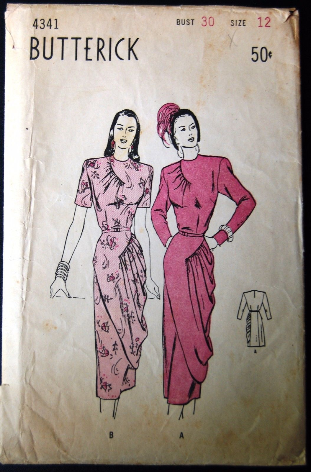 Vintage original butterick us cocktail dress pattern no