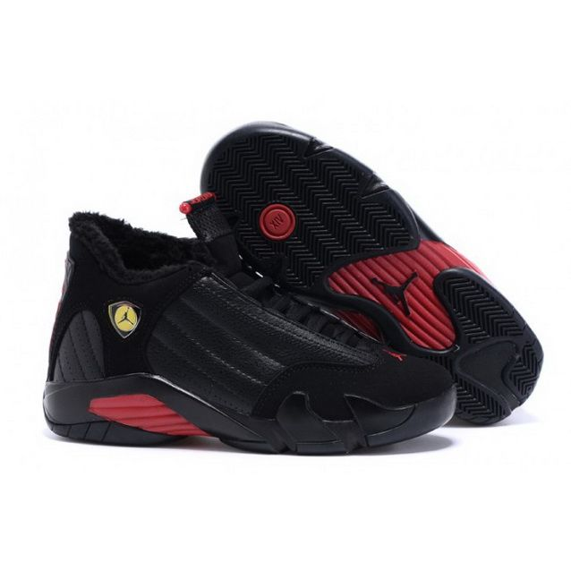 59f9b6114c80aa Women Nike Air Jordan 14 Retro With Velvet Black Red