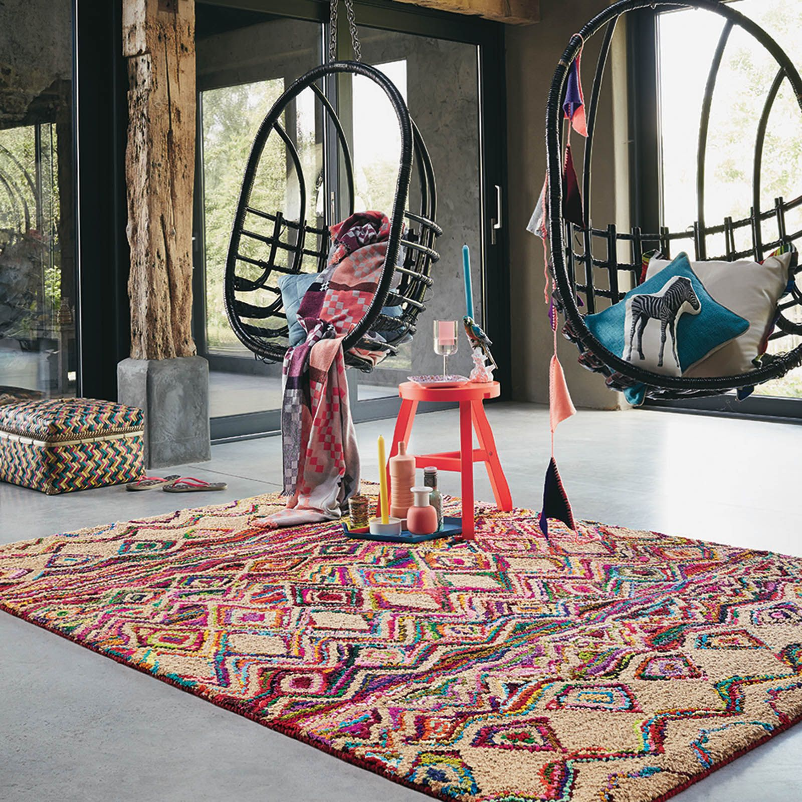 Ibiza Costa Rugs 67600 By Brink And Campman Handwoven Using Natural Jute With A Vibrant Multi