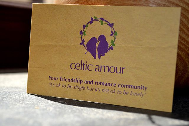 Business Card Design for 'Celtic Amour'  - Friendship and Romance Community.