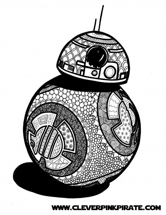 Free Printable Star Wars BB 8 Coloring Page Free printable Clever