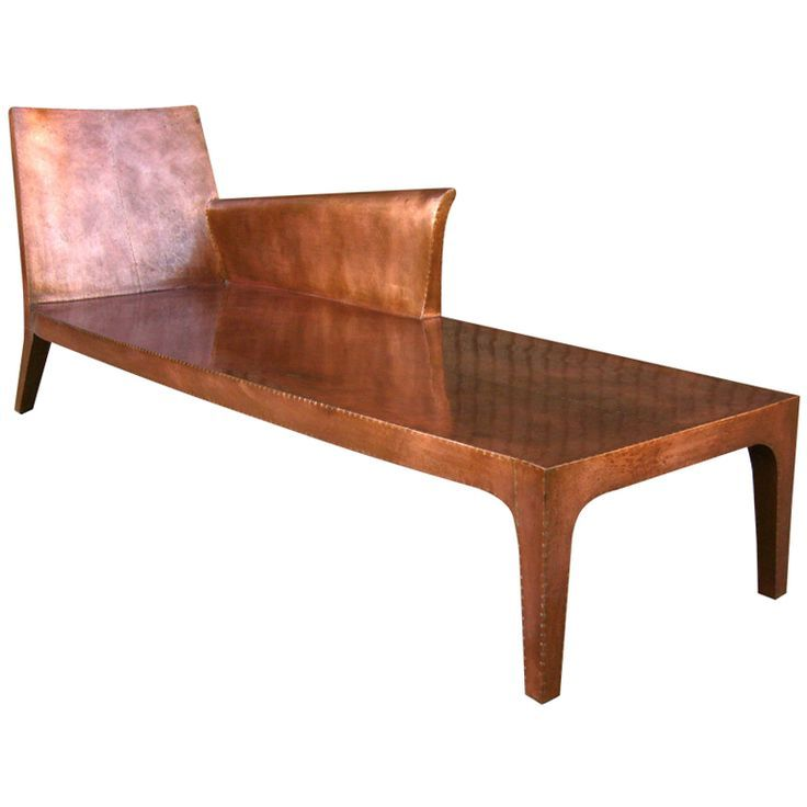 Incredible Copper Lounge Chair Copper Chaise Lounge By Paul Mathieu Andrewgaddart Wooden Chair Designs For Living Room Andrewgaddartcom