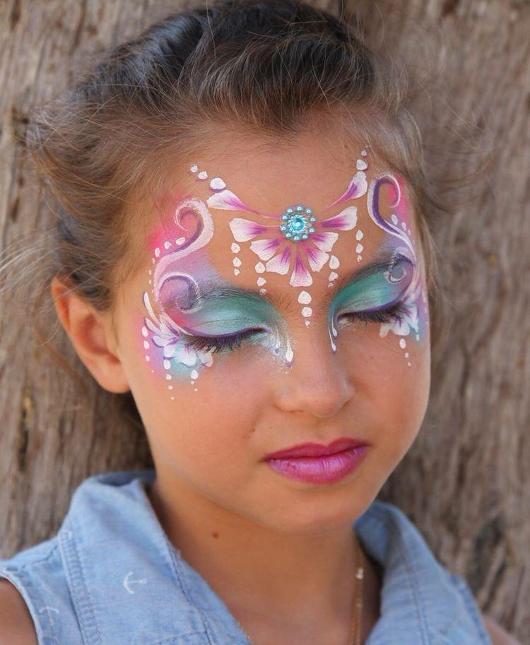 Prinzessin Schminken Blumen Bluten Rosa Fasching Makeup Princess