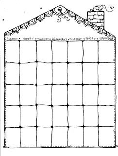 Free Printable Blank Monthly Calendar  Planner For Junk Journals