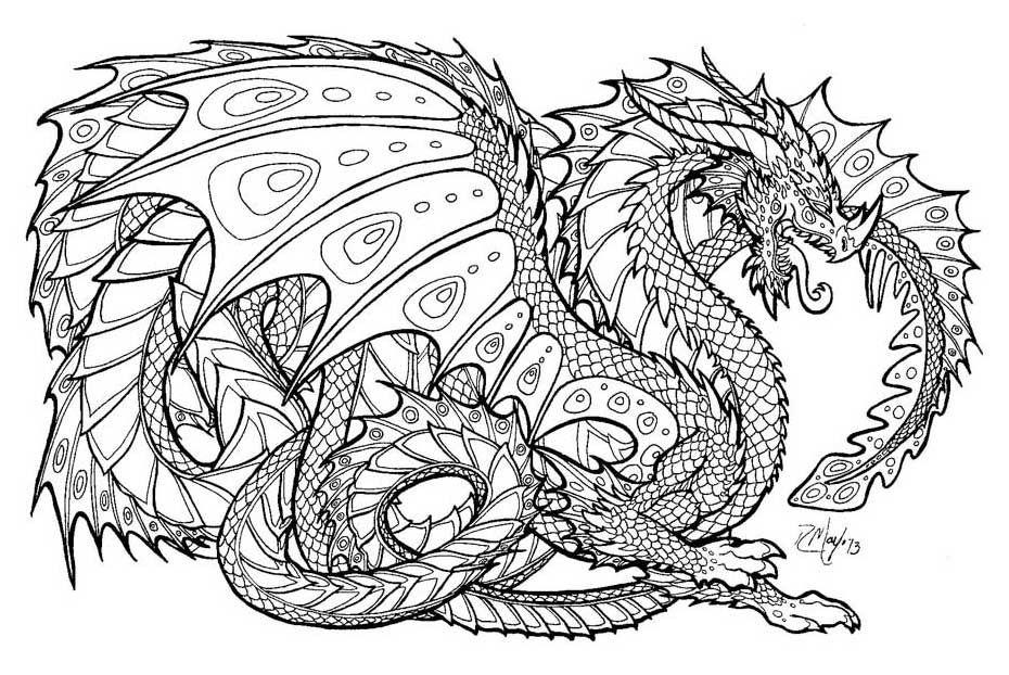 Pin Celtic Mandala Dragon on Pinterest | colouring ...