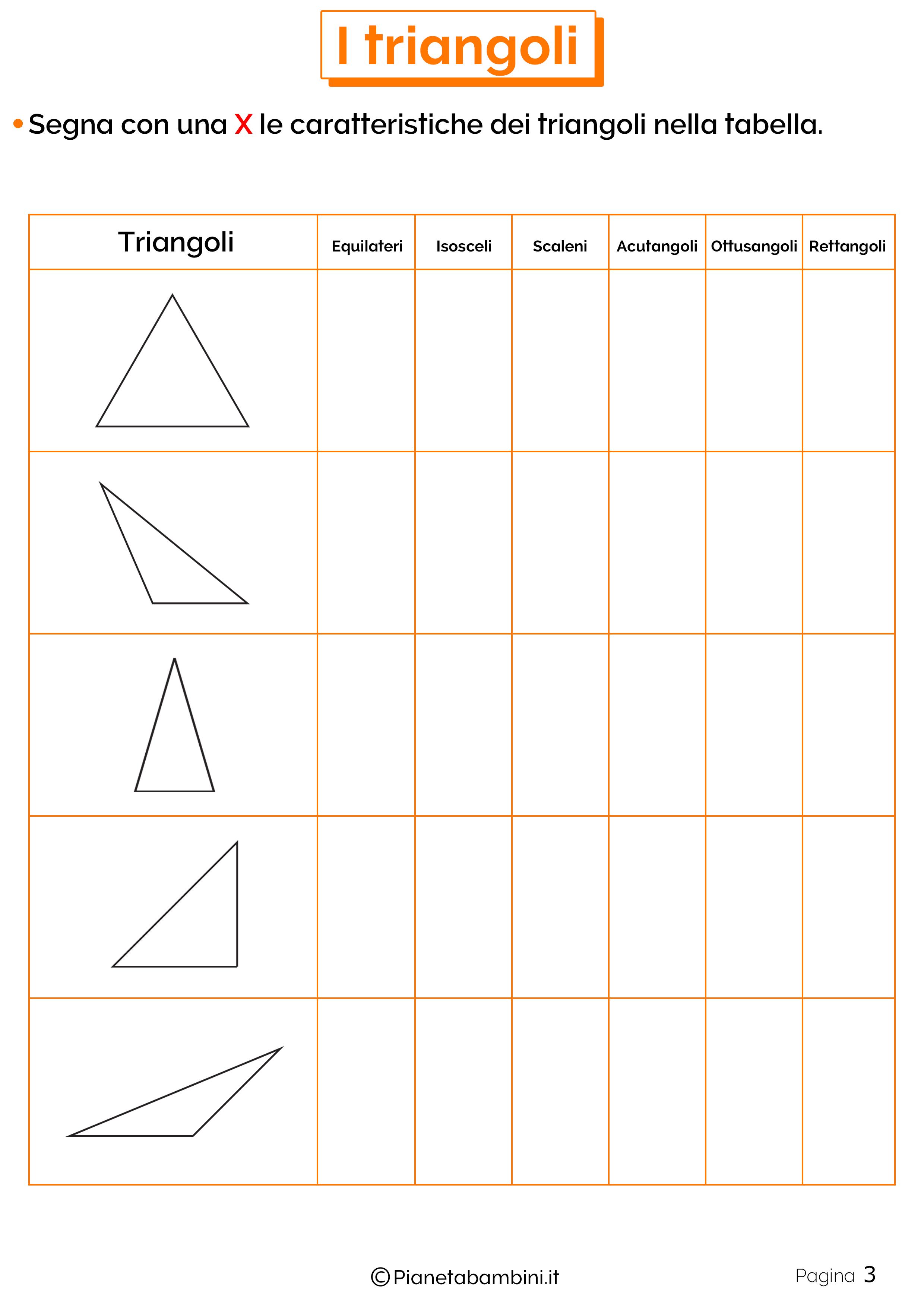 Esercizi Sui Triangoli Per La Scuola Primaria Esercizi Geometria