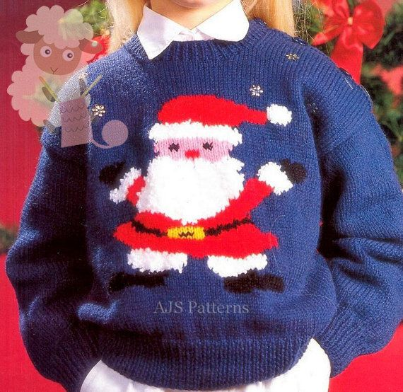 Pdf Knitting Pattern For A Childs Santa Claus Or Father Christmas