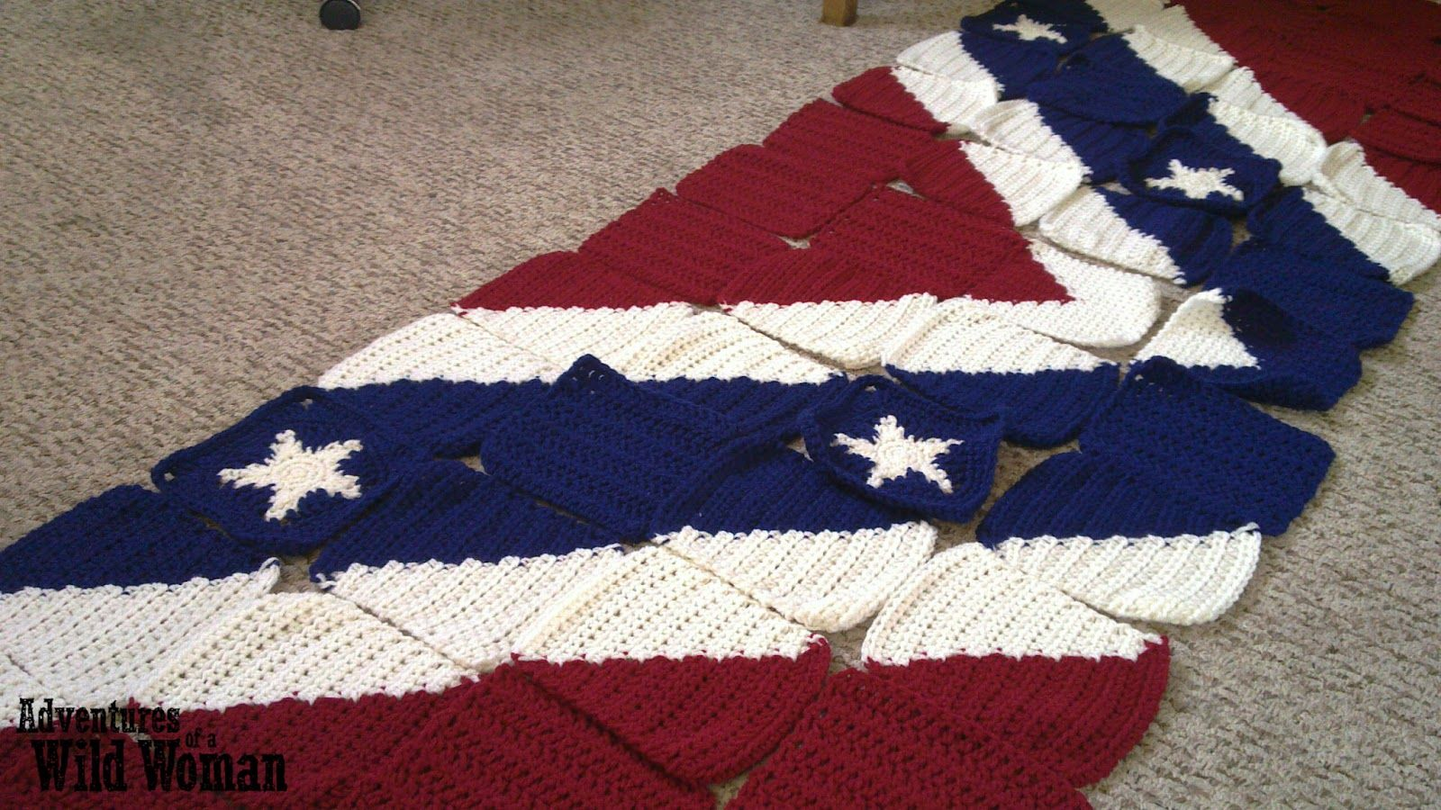 Adventures of a Wild Woman: Crochet Confederate Flag Blanket ...
