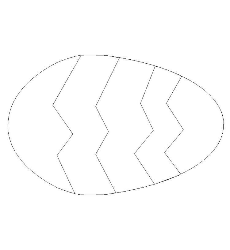 Ostereier Aus Papier Ausschneiden Vorlage Mit Zig Zag Mustern