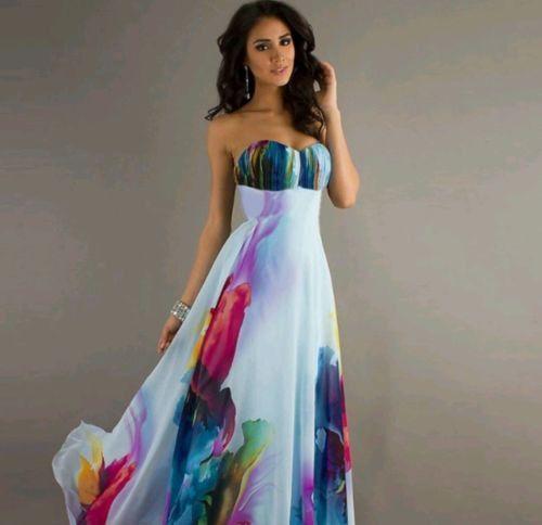 Floral Chiffon Maxi Dress Off The Shoulder Dress