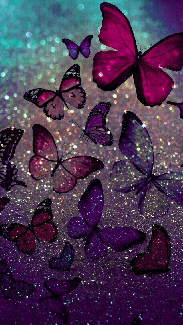 Pin By Ciel Phontomhive On Stars In 2020 Butterfly Wallpaper Glitter Wallpaper Cute Wallpaper Backgrounds