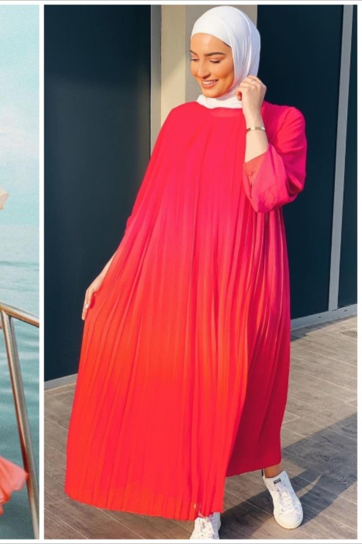 ستايل الجمعة أفكار متنوعة لارتداء الفستان الطويل مع الحجاب Hijabi Outfits Casual Fashion Hijab Fashion