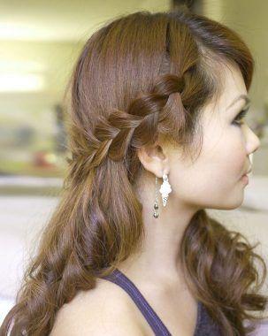 Estilo De Peinados De Trenza De Lado Faciles De Hacer Hair Braid Videos Plaits Hairstyles Half Updo Hairstyles