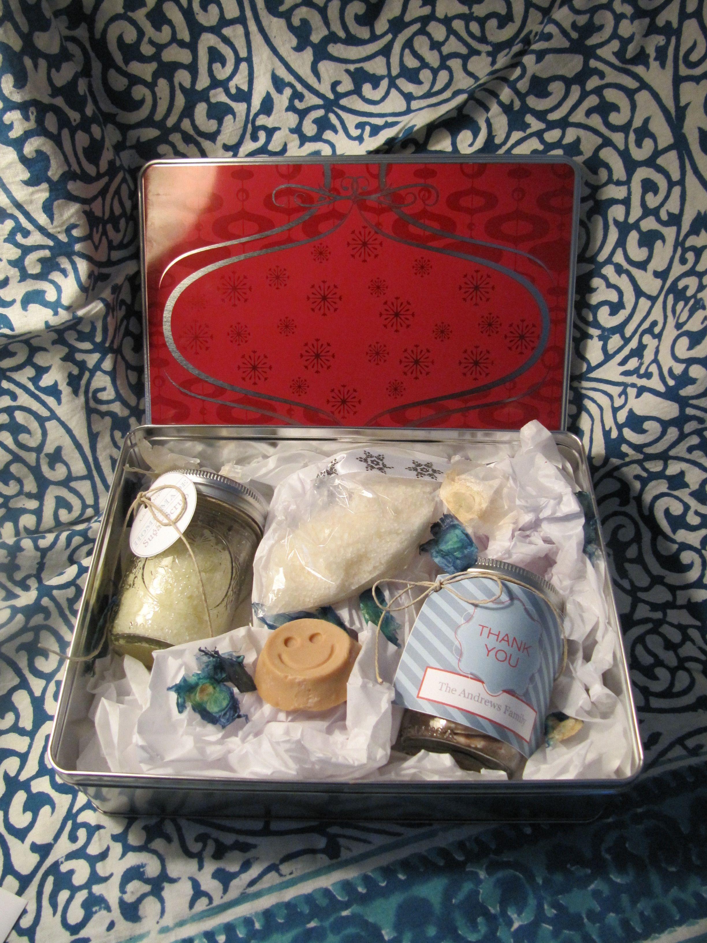 A sweet n salty gift basket for my secret santa sugar