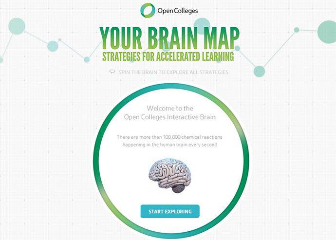 90 Creative Single Page Website Designs 2013 Bashooka Brain Mapping College Presents Creative Web Design