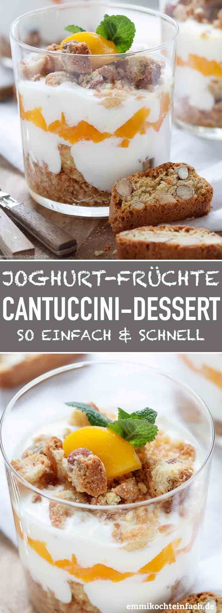 Photo of Yogurt Cantuccini dessert with peaches – easy to cook